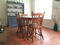 Set of Dining Table and Four Chairs