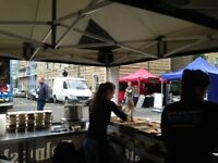 Street food market. £8.25 - £11 per hour, based on your experience.