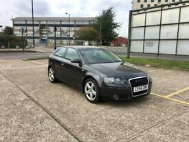 2007 AUDI A3 2.0 TDI SPORT – LOW MILES, GREY, 3 DOORS, DIESEL, FSH, ALLOYS, EXCELLENT CONDITION