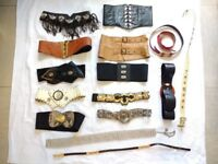 COLLECTION OF LADIES VINTAGE BELTS