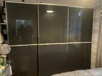 3 PIECE TRIPLE WARDROBE, DRESSING TABLE & KING SIZE BED FRAME