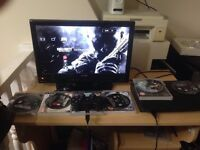 Ps3 with 5 games and 18 inch hdmi tv everything fully working and comes with wires and controller