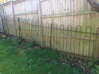 Garden railings - victorian wrought iron