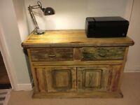 Large vintage / rustic wooden sideboard