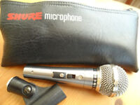 Shure Prologue 22L Microphone and pouch vgc. vocals singers drums etc.