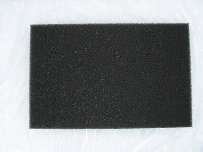 """FILTER FOAM (Flat - Black)  COARSE  17"""" x 11"""" x 1"""""""