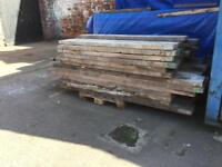 6ft and 8ft thick scaffold Boards batons. Ideal for gardens and raised beds timber wood