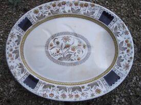 HUGE Antique Staffordshire Meat / Turkey Plate