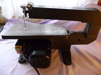 Electric power scroll saw jigsaw with blades
