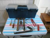 Toolbox And 10 Tools Inc hmmers Chisels Pliers Weymouth