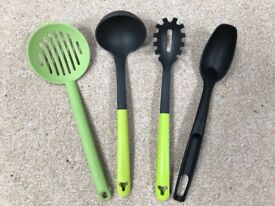 Cooking utensils, 4 piece, hardly used