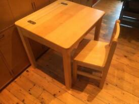 Children's desk and chair
