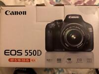 Canon 550D DSLR with EF-S 18-55mm lense