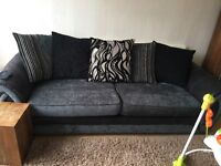 4 seater sofa and audio 2 seater cuddler DFS immaculate condition for sale