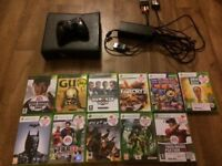 Xbox 360 slim with loads games in good condition few marks