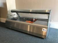 Countertop serve over fridge, hot hold version also available