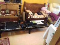 Aero Pilates work out machine including stand, mat, rebounder, dvds and wall chart.