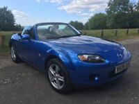 Smart, low mileage Mazda MX-5 1.8L soft top in Winning Blue