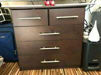 Drawers + side cabinet