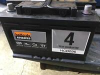 Halfords advanced 680 Amp Car battery one year old