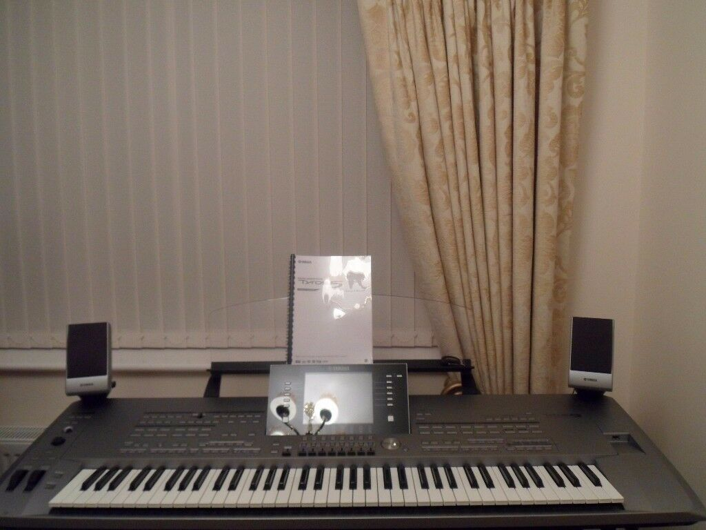 top yamaha tyros 5 76 note keyboard in excvellent condition plus extras in derby derbyshire. Black Bedroom Furniture Sets. Home Design Ideas