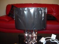 Jaxon Copper Ceramic Table Lamp Black Shade: