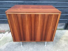 Vintage retro Danish 60s 70s rosewood mid century record TV cabinet small sideboard