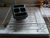 Plate Drying Rack and Cutlery Holder Basket