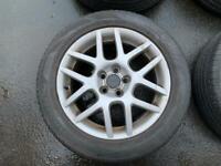 "BARGAIN. 16"" VW GTI V5 TURBO ALLOY WHEELS WITH GOOD TYRES 5x100 fits Audi Seat Skoda Vauxhall"
