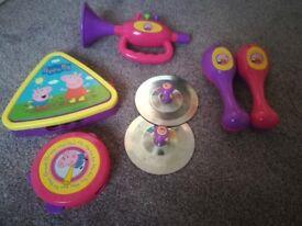 Peppa pig toy instrument set