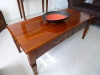 Solid Mahogany wood coffee table for sale - excellent condition
