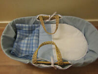 Boy's Moses Basket in Blue