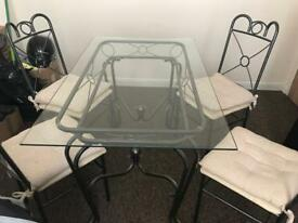 Iron Dining table and 4 chairs-set