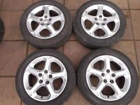 "FORD MONDEO GHIA , FOCUS, GALAXY, TRANSIT CONNECT, C-MAX, S-MAX 16"" inch ALLOY WHEELS"
