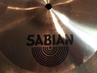 Sabian splash cymbal with mounting