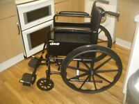 Drive Black Lightweight Self Propelled Wheelchair Superb, Virtually New, Used Only A Few Times