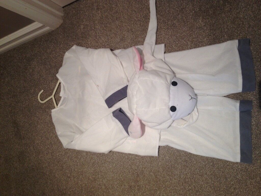 childs sheep outfit 3-6 years for xmas plays