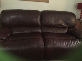 Two reclining leather sofas,very good condition.