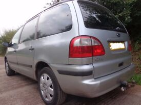 2002 6 speed ford galaxy 1.9 tdi diesel+mot+tax with towbar only 120k miles+service history+DELIVERY