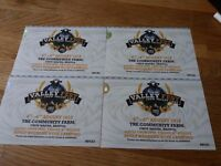 4 x ADULT WEEKEND WITH CAMPING Tickets For Valley Fest