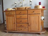 Ountry Kitchen Style Solid Wood Sideboard