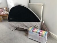 Koodee Pop up travel cot including inflatable mattress and cover