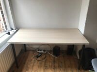IKEA Desk Table Top + Legs, Very Good Condition