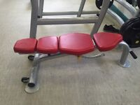 2x escape free weight benches 1x escape olympic flat bench