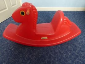 Little Tikes rocking horse, see saw rocker. Red.