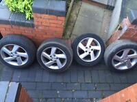 16 inch Mazda 6 alloys with tyres -good condition wheels - very good tyres - £90