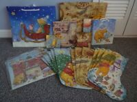 Job Lot of Christmas Gift Carriers, Bags and Advent ..Winnie The Pooh