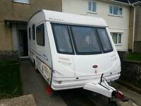 2 birth caravan with Full awning