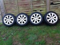 VAUXHALL ASTRA OR OPEL TIGRA WHEELS,TWO 175/55 R15 AND TWO 185/60 R15