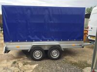 Box trailer fully covered dual axle, New.
